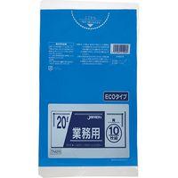 ジャパックス 業務用ポリ袋 20L10枚 青 厚み0.02mm TM26 10冊(100枚)