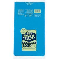 ジャパックス 業務用ポリ袋MAX 90L10枚 青 厚み0.025mm S-91 10冊(100枚)