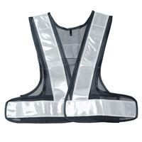 安全ベスト 女性用フリーサイズ 紺×銀 反射ベスト WS2702 1着(直送品)