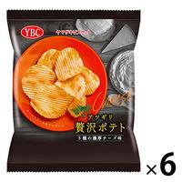 ヤマザキビスケット アツギリ贅沢ポテト 3種の濃厚チーズ味 6袋 スナック菓子 ポテトチップス