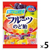 カバヤ フルーツのど飴 180g 1セット(5個)