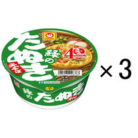 カップ麺 マルちゃん 緑のたぬき天そば 東 101g 1セット(3個) 東洋水産