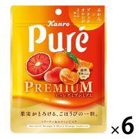 ピュレグミプレミアム みかん&ブラッドオレンジ 54g 6袋 カンロ グミ キャンディ