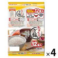 テーブルマーク たきたてご飯 12食 コンパクト国産米使用(180g×12食入) 4個
