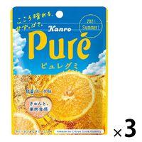カンロ ピュレグミ甘夏ソーダ 56g 3袋 グミ キャンディ