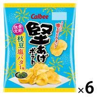 堅あげポテト枝豆塩バター味 60g 6袋 カルビー ポテトチップス スナック菓子 おつまみ