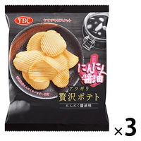 アツギリ贅沢ポテト にんにく醤油味 3袋 ヤマザキビスケット ポテトチップス スナック菓子 おつまみ
