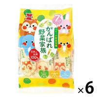 岩塚製菓 がんばれ!野菜家族 6袋 あられ せんべい おやつ