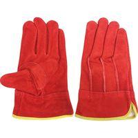 エースグローブ 牛床革手袋 オイル加工 内綿付き 赤 M 2双パック 朱雀 AG4815 1組(2双)(直送品)