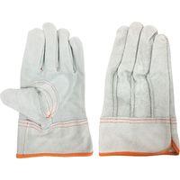 エースグローブ 牛床革手袋 内綿付き グレー L 2双パック 白虎 AG4817 1組(2双)(直送品)