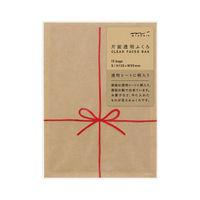 デザインフィル 片面透明袋<S> 表リボン柄 赤 18770006 3個(直送品)