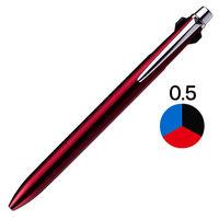 三菱鉛筆 ジェットストリームプライム3色 0.5mm ダークボルドー軸 SXE3300005D65 1本(直送品)