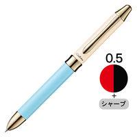 ぺんてる ビクーニャEX シエリナ 多機能ペン 2色+シャープ スカイブルー軸 BXW1555CS 1本(直送品)
