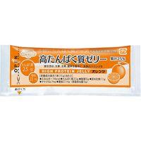 林兼産業 高たんぱく質ゼリー オレンジ 1ケース(15g×20本×25袋入) 【介護食】介援隊カタログ E1362(直送品)