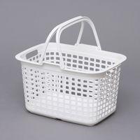 アイリスオーヤマ ランドリーバスケット LB-M ピュアホワイト 1個