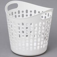 アイリスオーヤマ ソフトバスケットMサイズ(穴あり) ピュアホワイト SBK-400(直送品)
