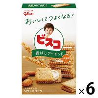 江崎グリコ ビスコ小麦胚芽入り<香ばしアーモンド> 1セット(6個)