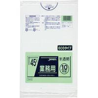 ジャパックス 業務用ポリ袋 45L10枚 半透明 厚み0.02mm 60冊入り TM49 1セット(600枚)(直送品)