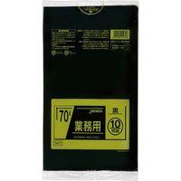 ジャパックス 業務用ポリ袋 70L10枚 黒 厚み0.035mm 40冊入り TM72 1セット(400枚)(直送品)