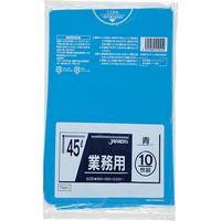 ジャパックス 業務用ポリ袋 45L10枚 青 厚み0.025mm 60冊入り TM41 1セット(600枚)(直送品)