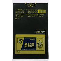 ジャパックス 業務用ポリ袋 45L10枚 黒 厚み0.02mm 60冊入り TM47 1セット(600枚)(直送品)