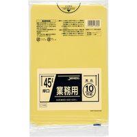 ジャパックス 業務用ポリ袋 45L10枚 黄色 厚手 0.04mm 40冊入り CY46 1セット(400枚)(直送品)