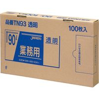 ジャパックス 業務用ポリ袋 90L100枚BOX 透明 厚み0.04mm 3BOX入り TN93 1セット(300枚)(直送品)