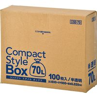 ジャパックス コンパクトスタイル 70L100枚BOX 半透明 厚み0.02mm 5BOX入り CSB79 1セット(500枚)(直送品)