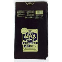 ジャパックス 業務用ポリ袋MAX 70L10枚 黒 厚み0.025mm 40冊入り S-72 1セット(400枚)(直送品)