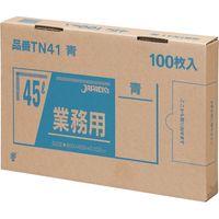 ジャパックス 業務用ポリ袋 45L100枚BOX 青 厚み0.025mm 6BOX入り TN41 1セット(600枚)(直送品)