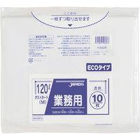 ジャパックス 業務用大型ポリ袋 ダストカートMエコ 120L10枚 透明 厚み0.03mm 30冊入り DKM93 1セット(300枚)(直送品)