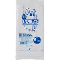 ジャパックス レジ袋(乳白) ベロ付きブロック 関東6号/関西20号100枚 厚み0.012mm 80冊入り RJJ06 1セット(8000枚)(直送品)