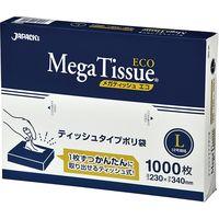 ジャパックス ティッシュタイプBOXポリ袋 メガティッシュ エコ Lサイズ(12号)半透明 厚み0.007mm BH12 1セット(12000枚)(直送品)