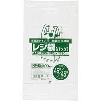ジャパックス レジ袋(半透明)省資源 ベロ付きブロック・エンボス 関東45号/関西45号 厚み0.017mm RF45 1セット(2000枚)(直送品)