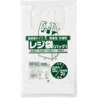 ジャパックス レジ袋(半透明)省資源 ベロ付きブロック・エンボス 関東60号/関西50号 厚み0.018mm RF60 1セット(2000枚)(直送品)