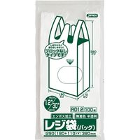 ジャパックス レジ袋(半透明)省資源ブロックなしベロ付タイプ(エンボス)関東12号/関西30号 厚み0.011mm RD12 1セット(6000枚)(直送品)