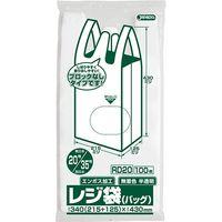 ジャパックス レジ袋(半透明)省資源ブロックなしベロ付タイプ(エンボス)関東20号/関西35号 厚み0.011mm RD20 1セット(6000枚)(直送品)