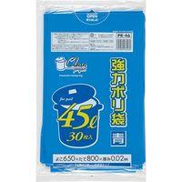 ジャパックス クリーンプロジェクト 45L30枚 青 厚み0.02mm 25冊入り PR46 1セット(750枚)(直送品)