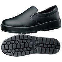 ミドリ安全 耐滑 作業靴 スリッポン HRS-480N ブラック 22.0cm 1足 2125027603(直送品)