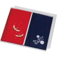 【和雑貨・ふくさ】三陽商事 有職 正絹ちりめん刺繍金封ふくさセット 1包装(2セット入)(直送品)