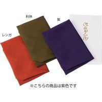 【和雑貨・ふくさ】三陽商事 有職 正絹ちりめん台付ふくさ 紫 1セット(5枚入)(直送品)