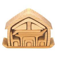おうちの積み木 ナチュラル 1個 おもちゃ箱
