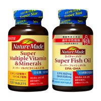 ネイチャーメイド スーパーマルチビタミン&ミネラル120粒・120日分 + スーパーフィッシュオイル(DHA/EPA) 90粒・90日分