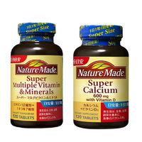 ネイチャーメイド スーパーマルチビタミン&ミネラル 120粒・120日分 +  スーパーカルシウム 120粒・120日分