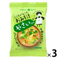 こころがなごむおみそ汁 野菜 3個