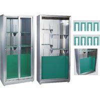 ファイバースコープ(8本掛)可動式 シルバー+グリーン 24-4001-11 松吉医科器械(直送品)