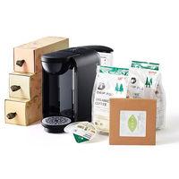 ドリップポッド(黒)+コーヒー+掛川茶