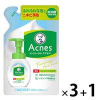 メンソレータム アクネス 薬用ふわふわな洗顔料 詰替 140mL ×4個 ロート製薬