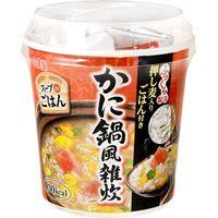 丸美屋 スープdeごはんかに鍋雑炊カップ 69g×6 5262253 1ケース(6入) 丸美屋食品工業(直送品)