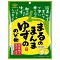佐久間製菓 まるのまんまゆずののど飴 90g×6 5621789 1ケース(6入)(直送品)
